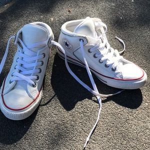 Leather high-top Converse